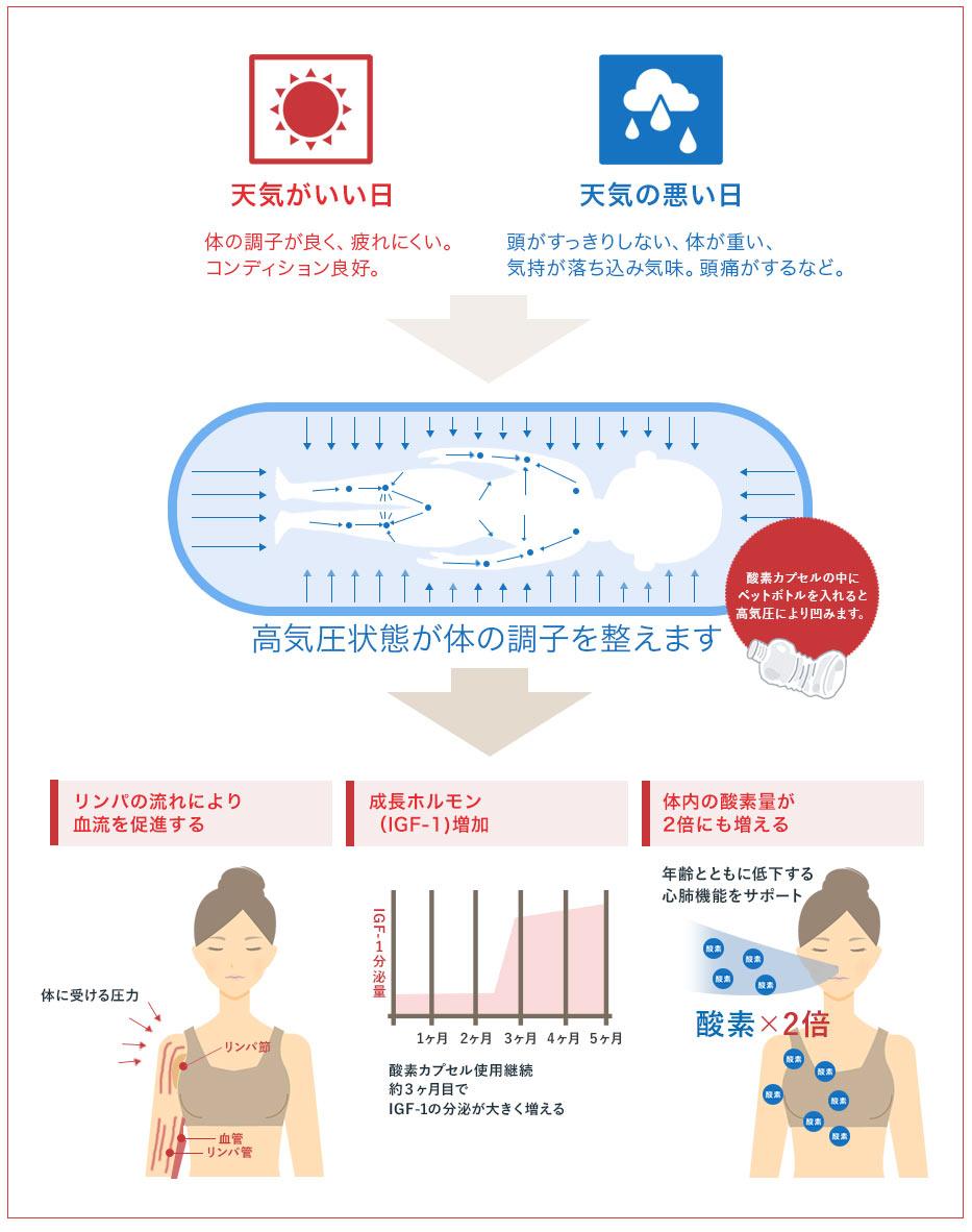 体の調子を整える流れの図